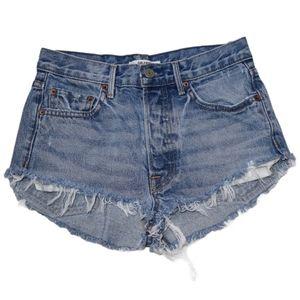 GRLFRND Karolina Cut Off Denim Shorts - US 26